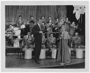 Primary view of object titled '[Stan Kenton and June Christy at Hollywood Palladium]'.