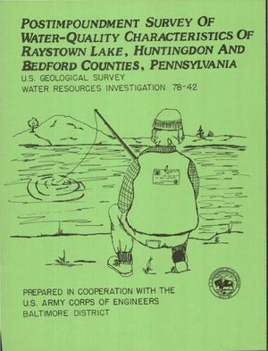 Primary view of object titled 'Postimpoundment Survey of Water-Quality Characteristics of Raystown Lake, Huntingdon and Bedford Counties, Pennsylvania'.