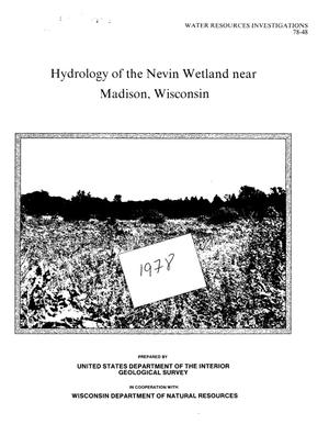 Primary view of object titled 'Hydrology of the Nevin Wetland near Madison, Wisconsin'.