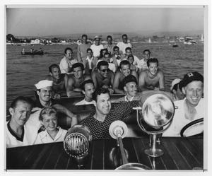 Primary view of object titled '[Kenton band at Balboa Bay, CA]'.