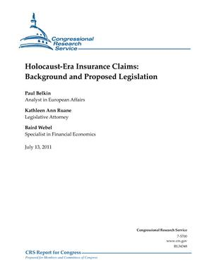 Holocaust-Era Insurance Claims: Background and Proposed Legislation