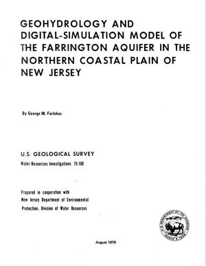 Primary view of object titled 'Geohydrology and Digital-Simulation Model of the Farrington Aquifer in the Northern Coastal Plain of New Jersey'.