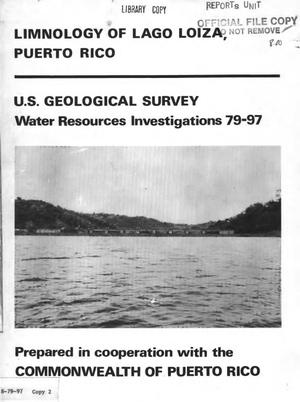 Primary view of object titled 'Limnology of Lago Loiza, Puerto Rico'.