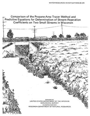 Primary view of object titled 'Comparison of the Propane-Area Tracer Method and Predictive Equations for Determination of Stream-Reaeration Coefficients on Two Small Streams in Wisconsin'.