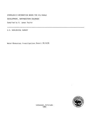 Primary view of object titled 'Hydrologic-Information Needs for Oil-Shale Development, Northwestern Colorado'.