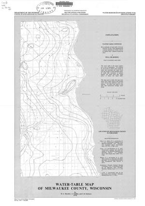 Primary view of object titled 'Water-Table Map of Milwaukee County, Wisconsin'.