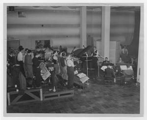 Primary view of object titled '[Kenton band recording session for Capitol Records]'.