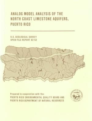 Primary view of object titled 'Analog Model Analysis of the North Coast Limestone Aquifers, Puerto Rico'.