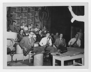 Primary view of object titled '[Kenton Band rehearsal at Viriginia Polytechnical Institute]'.