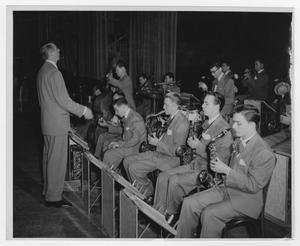 Primary view of object titled '[Kenton Orchestra rehearsal]'.
