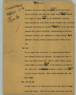 Primary view of object titled '[News Script: Ex-con]'.