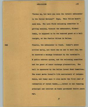 Primary view of object titled '[News Script: Ambassador]'.