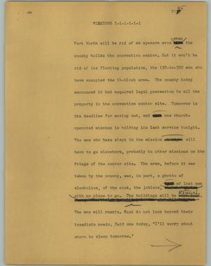 Primary view of object titled '[News Script: Missions]'.