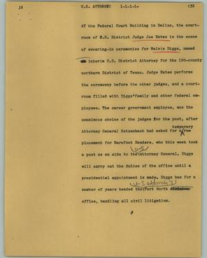 Primary view of object titled '[News Script: U. S. Attorney]'.