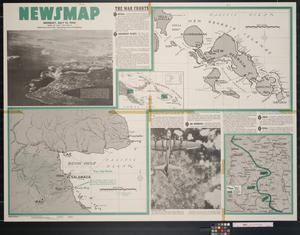 Primary view of object titled 'Newsmap. Monday, July 12, 1943 : week of July 1 to July 8, 200th week of the war, 82nd week of U.S. participation'.