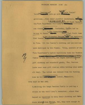 Primary view of object titled '[News Script: Moochin Meskins]'.