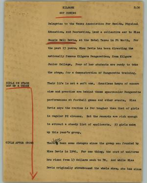 Primary view of object titled '[News Script: Kilgore]'.