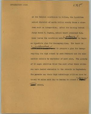 Primary view of object titled '[News Script: Integration]'.