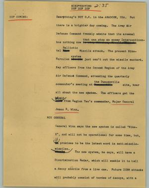 Primary view of object titled '[News Script: Nike*meeting]'.