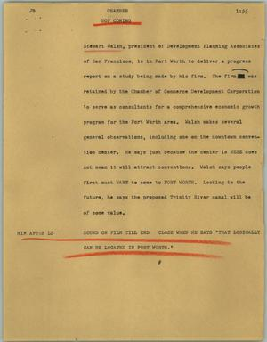 Primary view of object titled '[News Script: Chamber]'.