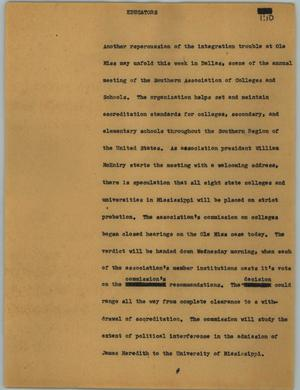 Primary view of object titled '[News Script: Educators]'.