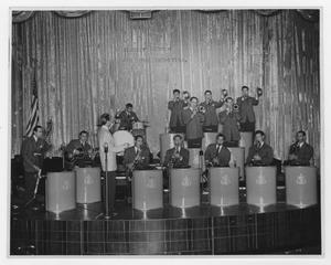 Primary view of object titled '[Original Kenton band at Hollywood Palladium]'.