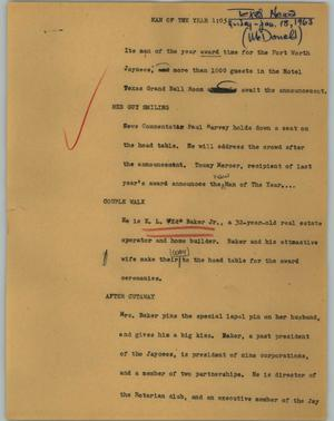 Primary view of object titled '[News Script: Man of the Year]'.