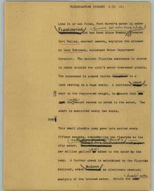 Primary view of object titled '[News Script: Flouridation (color)]'.
