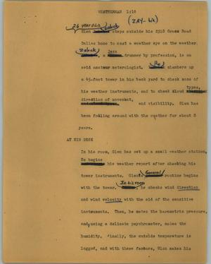 Primary view of object titled '[News Script: Weatherman]'.