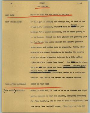 Primary view of object titled '[News Script: Moran]'.