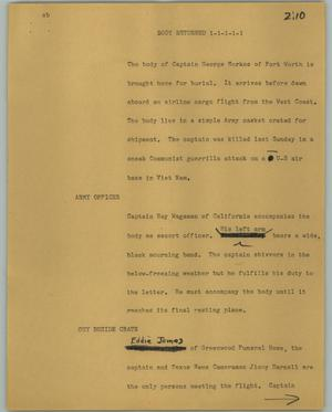Primary view of object titled '[News Script: Body returned]'.