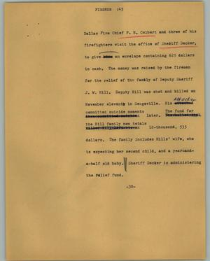 Primary view of object titled '[News Script: Firemen]'.