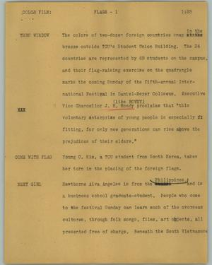 Primary view of object titled '[News Script: Flags]'.