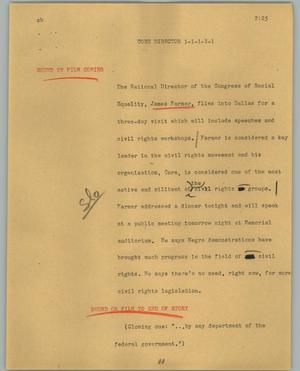 Primary view of object titled '[News Script: Core director]'.