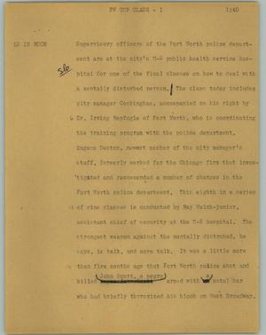 Primary view of object titled '[News Script: FW cop class]'.