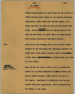 Primary view of object titled '[News Script: M. D.]'.