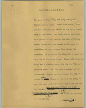Primary view of object titled '[News Script: Daisy Bell]'.