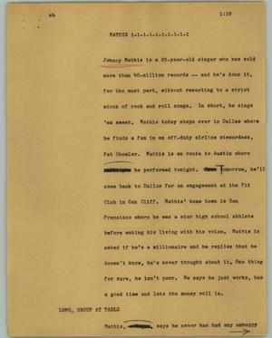 Primary view of object titled '[News Script: Mathis]'.