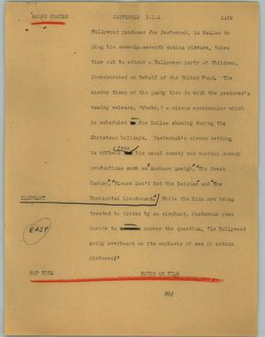 Primary view of object titled '[News Script: Pasternak]'.
