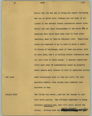 Primary view of object titled '[News Script: Move]'.