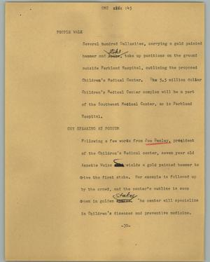 Primary view of object titled '[News Script: CMC]'.