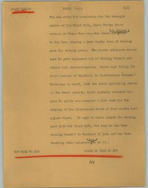 Primary view of object titled '[News Script: Moore]'.