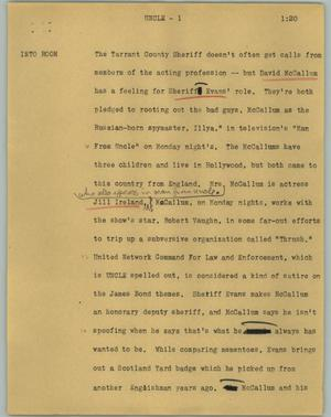 Primary view of object titled '[News Script: Uncle]'.