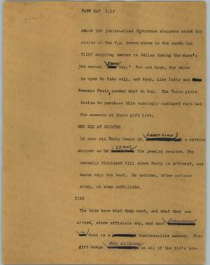 Primary view of object titled '[News Script: Fawn Day]'.