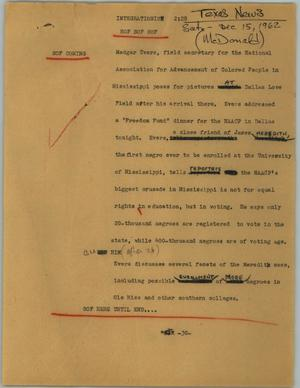 Primary view of object titled '[News Script: Integrationist]'.