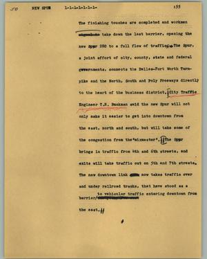 Primary view of object titled '[News Script: New Spur]'.