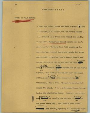 Primary view of object titled '[News Script: Momma Oswald]'.