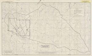 Primary view of object titled 'Map of the East Trail Creek Basin, Big Horn County, Montana Showing Permit Area, Subbasins, and Soil and Vegetation Sampling Sites'.