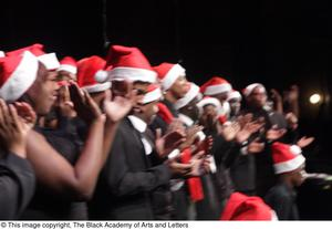 Primary view of object titled '[Onstage Choir Applauding]'.