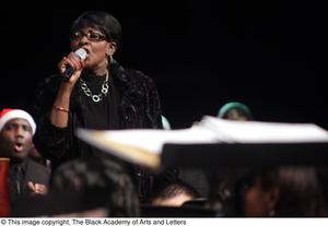 Primary view of object titled '[Unidentified Woman Singing]'.